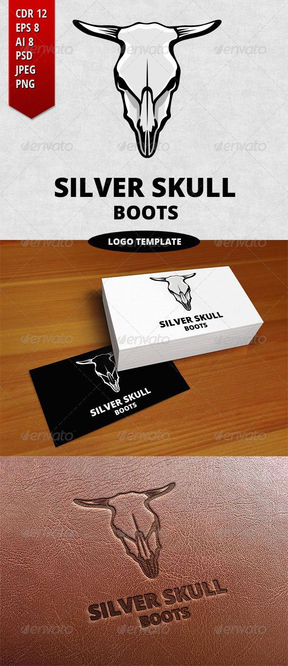 Silver Skull Logo Template - Objects Logo Templates