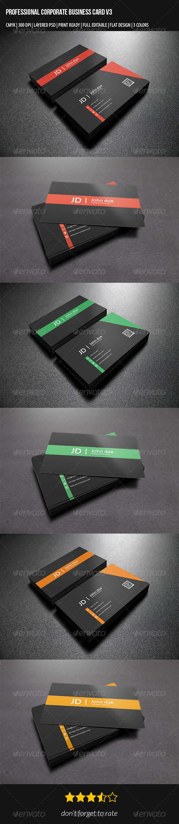 Professional Corporate Business Card V3 - Corporate Flyers