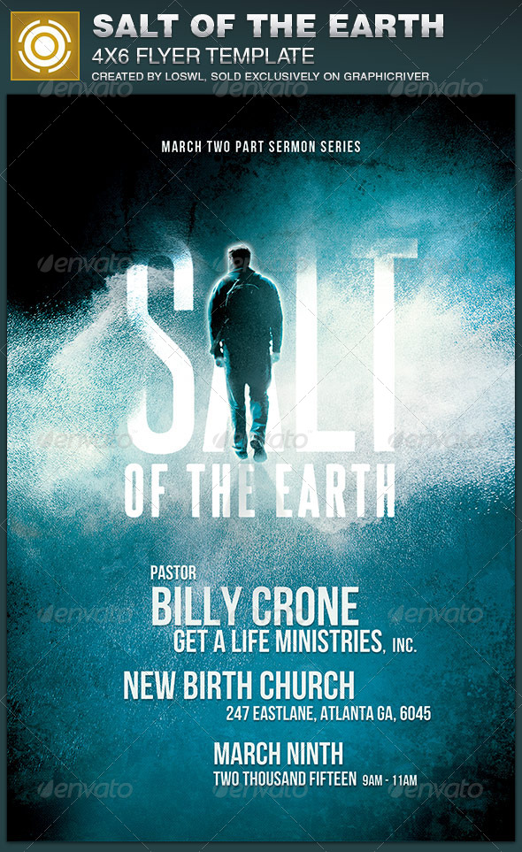 Salt of the Earth Church Flyer Template - Church Flyers