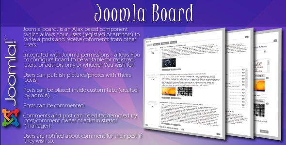 Joomla Board - CodeCanyon Item for Sale