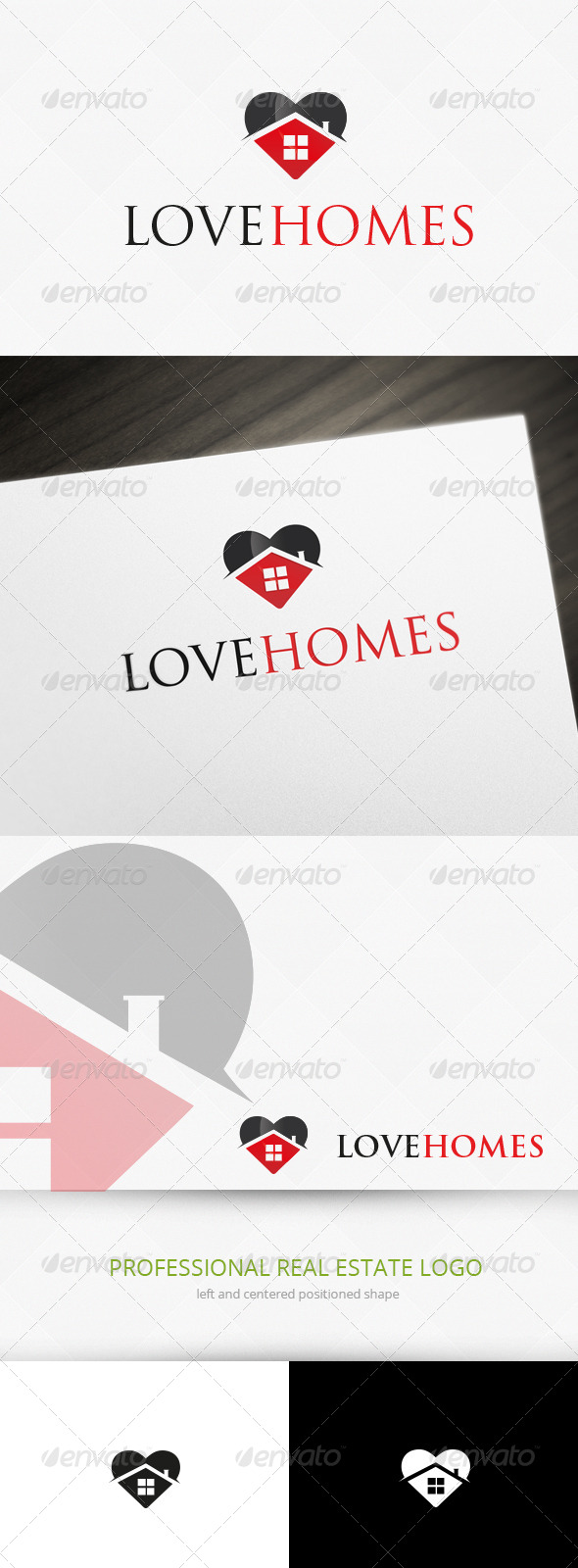 Home Love Logo Template - Buildings Logo Templates
