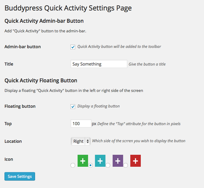 BuddyPress Quick Activity