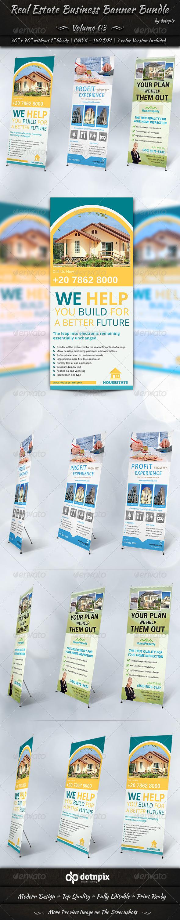 Real Estate Business Banner Bundle | Volume 3 - Signage Print Templates