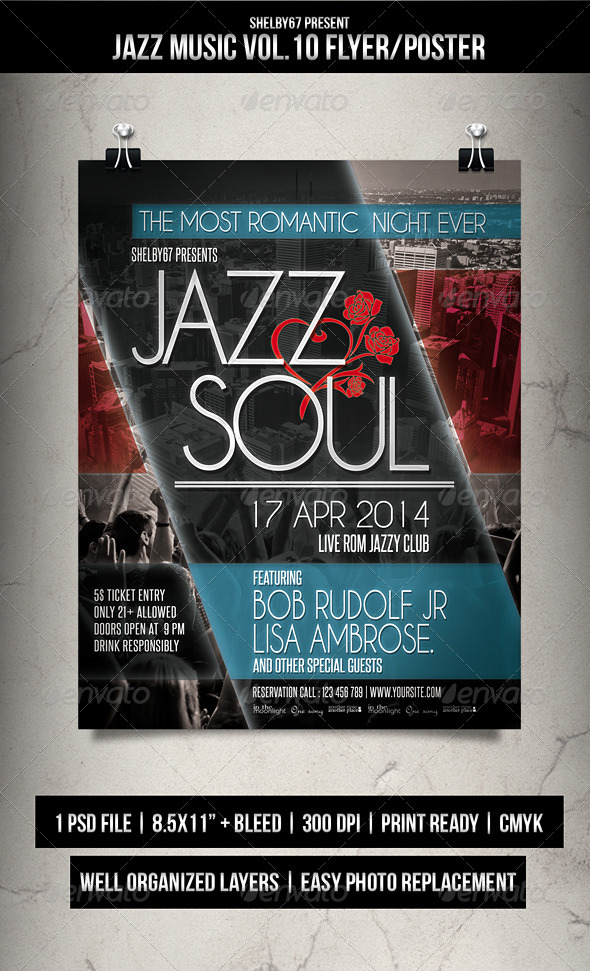 Jazz Music Flyer / Poster Vol.10 - Events Flyers