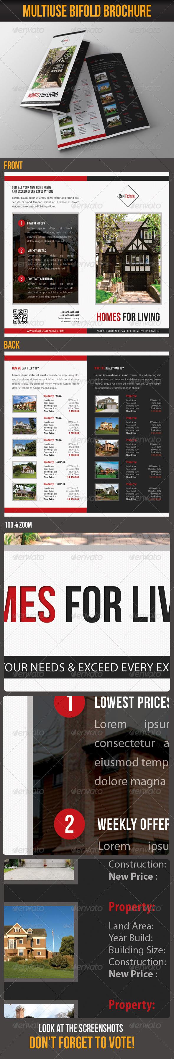 Multiuse Bifold Brochure 58 - Brochures Print Templates