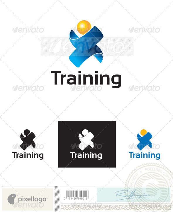 Training Logo - 2401 - Humans Logo Templates