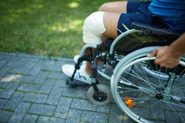 Wheelchair walk - Stock Photo - Images