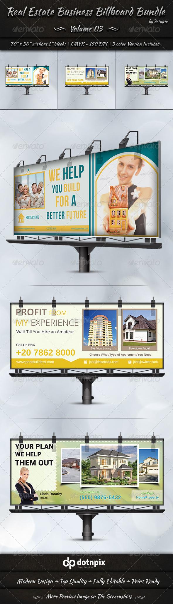 Real Estate Business Billboard Bundle   Volume 3 - Signage Print Templates