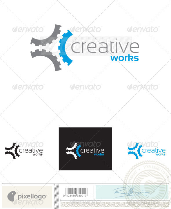 Gear Logo - 2407 - Objects Logo Templates