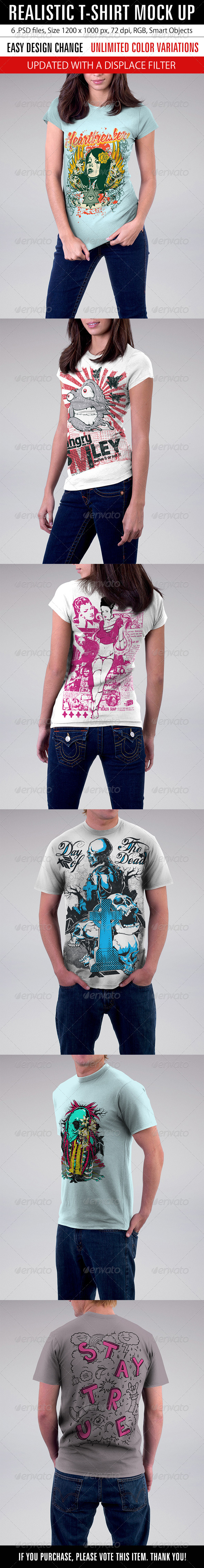 Realistic T-Shirt Mock Up - T-shirts Apparel