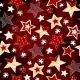 Bright Stars on Red Mosaic Background - GraphicRiver Item for Sale