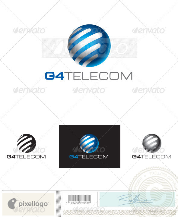 Communication Logo - 2416 - Vector Abstract