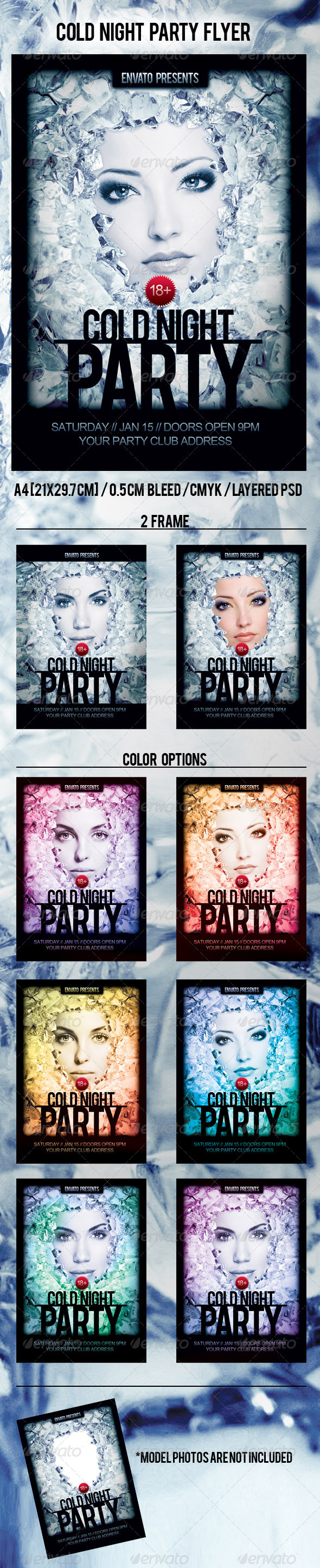 Cold Night Party Flyer - Clubs & Parties Events