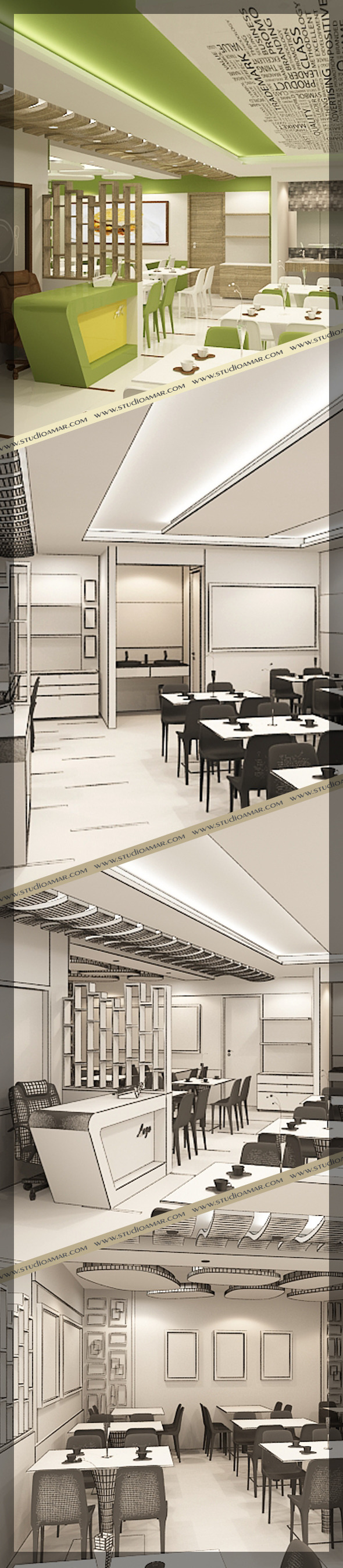 Restaurant 3d interior design 120 - 3DOcean Item for Sale