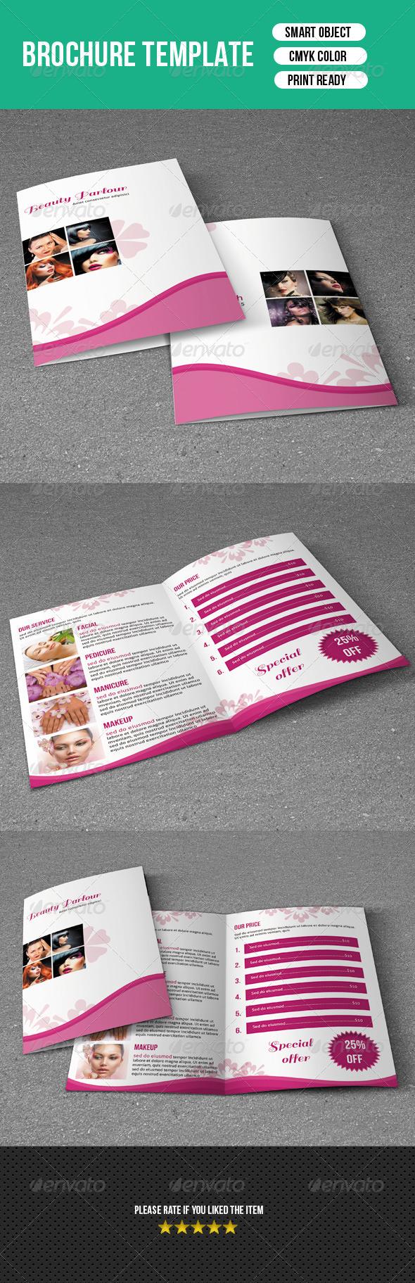 Trifold Brochure-Beauty Salon - Corporate Brochures