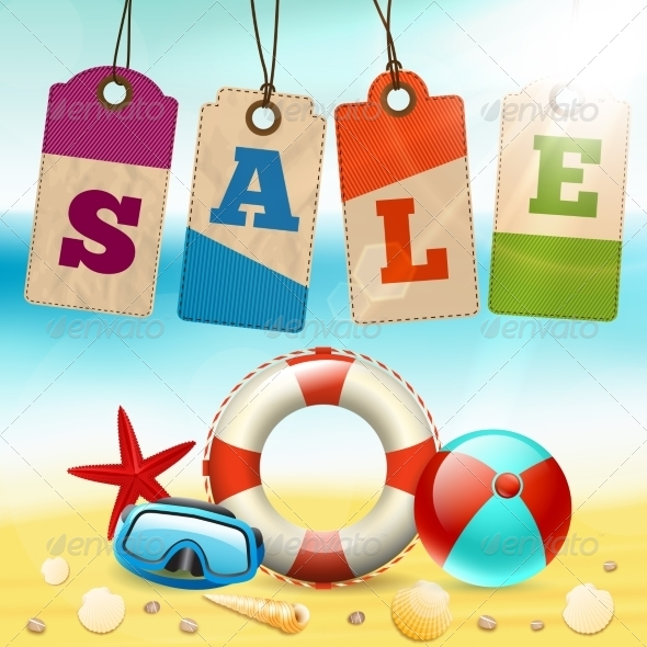 Summer Sale Wallpaper By Macrovector