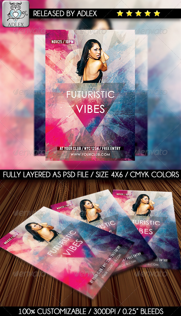 Futuristic Colorful Flyer - Clubs & Parties Events