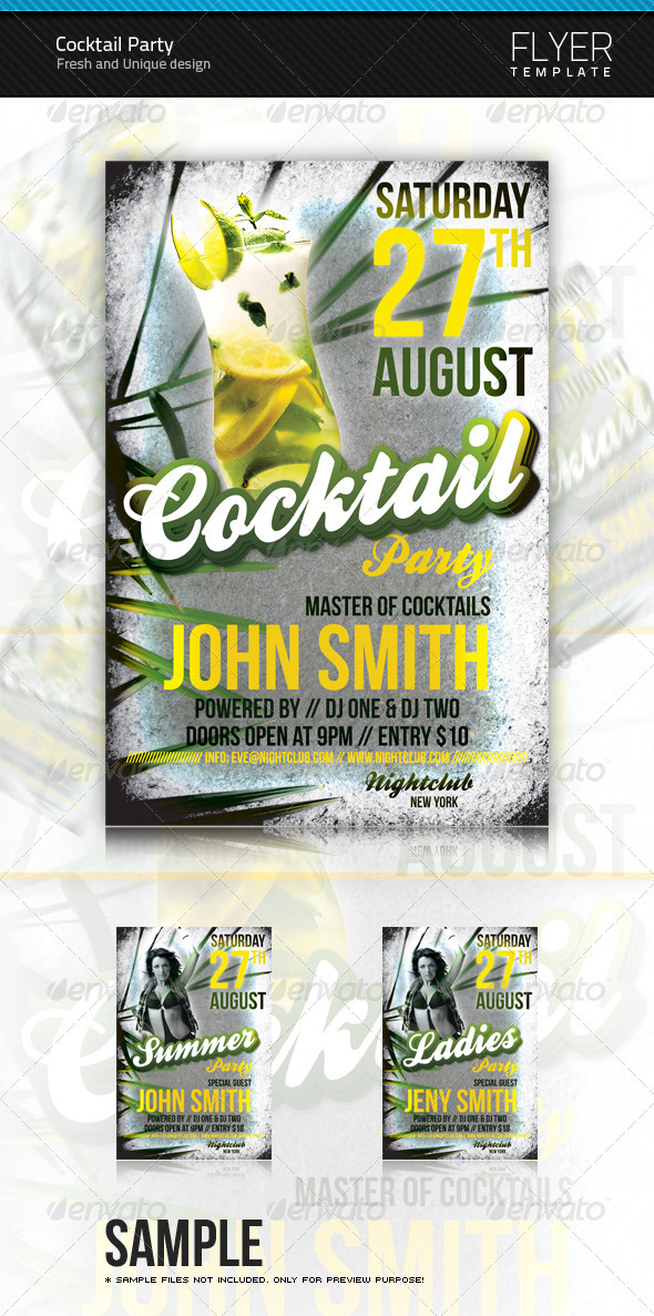 Cocktail Flyer - Clubs & Parties Events