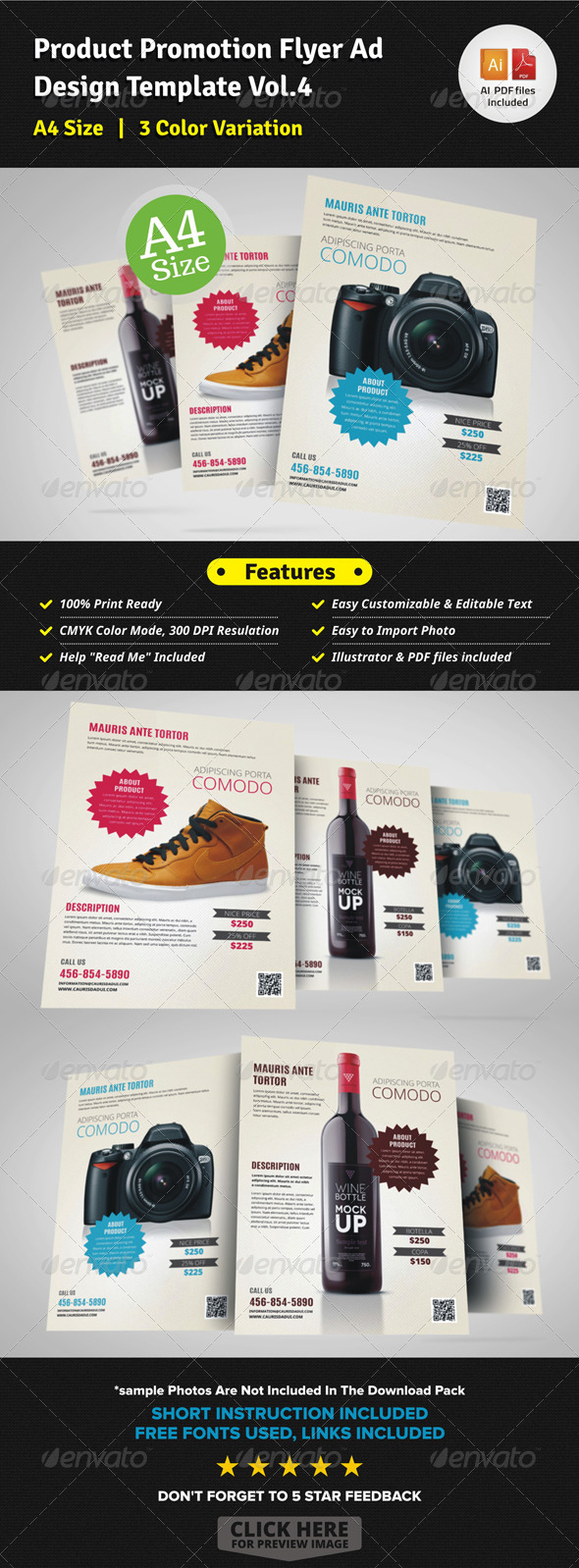 Product Promotion Flyer Ad v4 - Corporate Flyers
