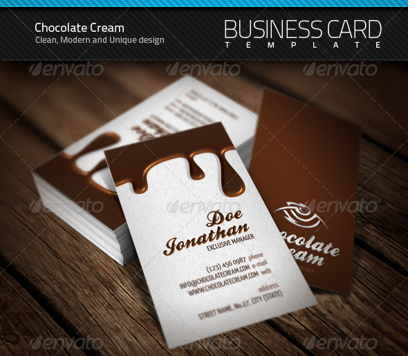 Chocolate Business Card - Creative Business Cards