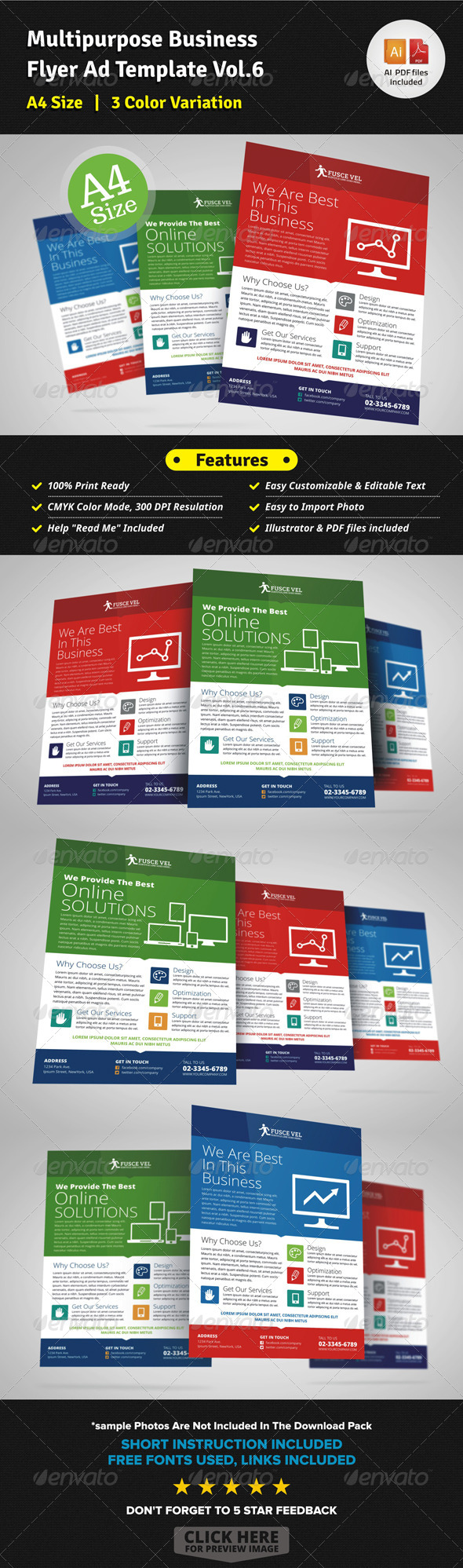 Multipurpose Business Flyer Template Vol.6 - Corporate Flyers