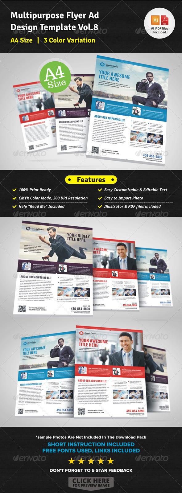 Multipurpose Business Flyer Template Vol.8 - Corporate Flyers