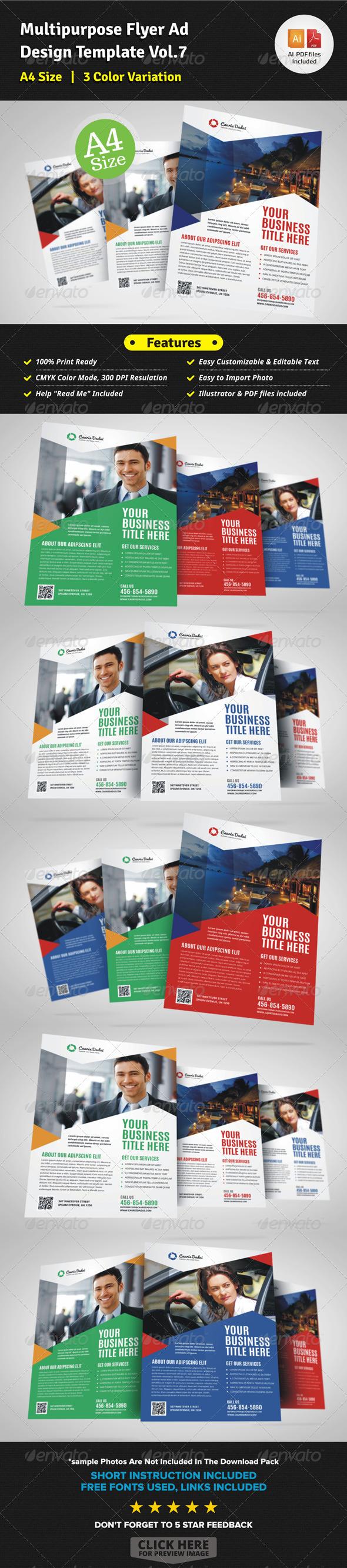 Multipurpose Business Flyer Template Vol.7 - Corporate Flyers