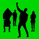 Cheering Crowd Silhouettes - VideoHive Item for Sale