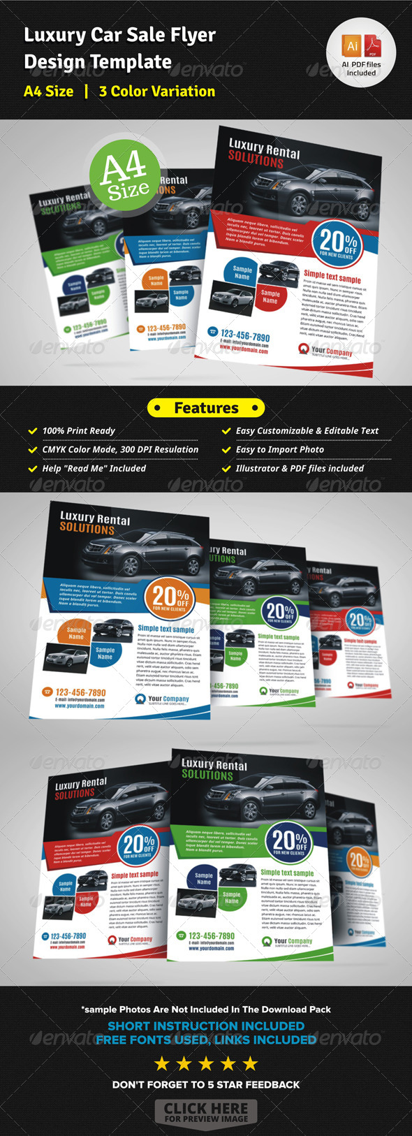 Luxury Car Sale Flyer Ad Design Template by JbnComilla GraphicRiver
