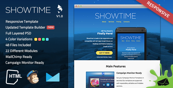 Showtime Responsive Email Template - Miscellaneous Email Templates