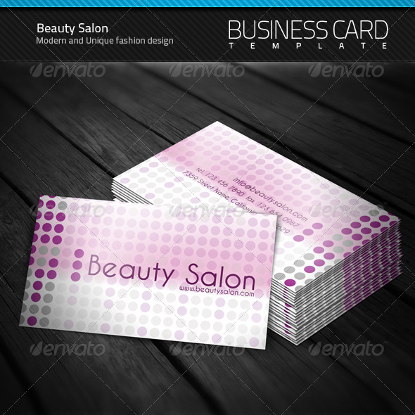 Beauty Salon Business Card By Artnook Graphicriver