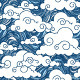 Seamless Pattern Set of Chinese Style Clouds - GraphicRiver Item for Sale