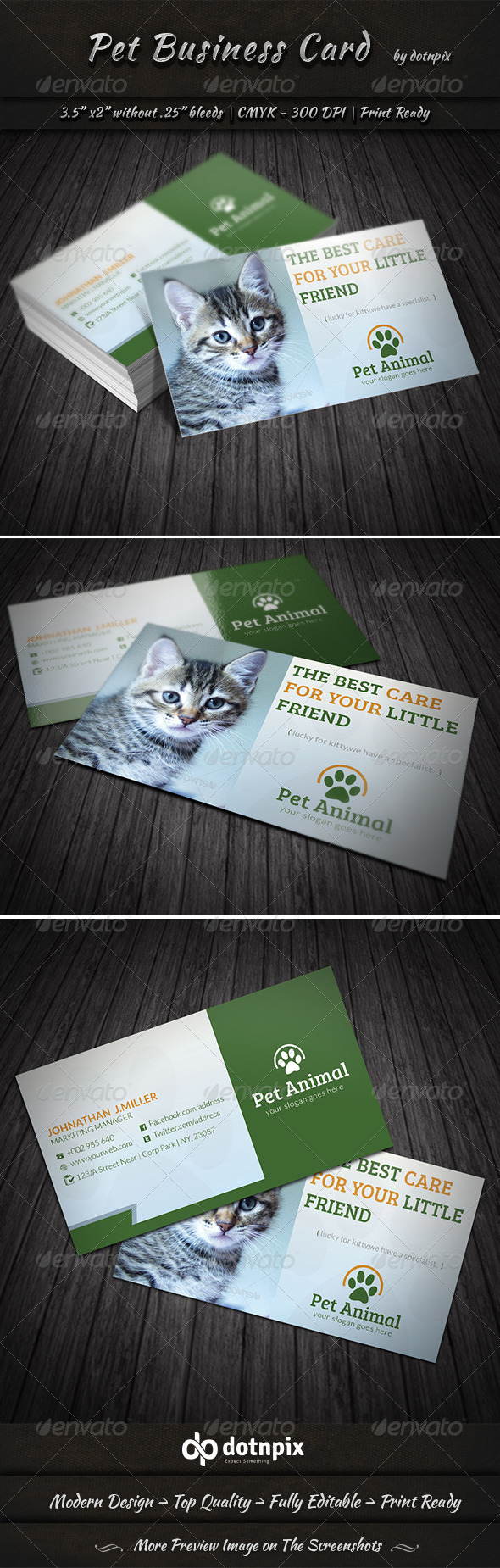 Pet Business Card - Corporate Business Cards
