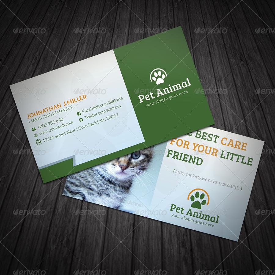 Pet Business Card by dotnpix | GraphicRiver