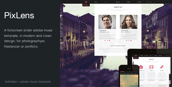 PixLens – Photography Portfolio Muse Template