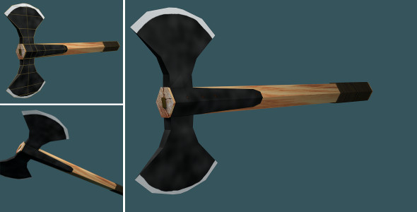 Low Poly Double Axe - 3DOcean Item for Sale
