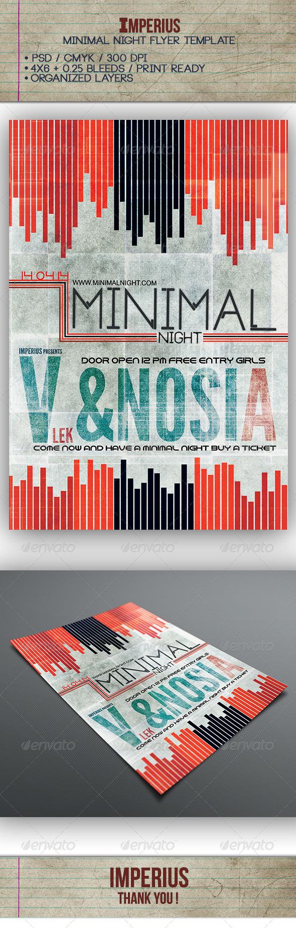 Minimal Night Flyer - Flyers Print Templates