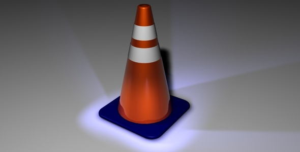 Underconstruction Cone - 3DOcean Item for Sale