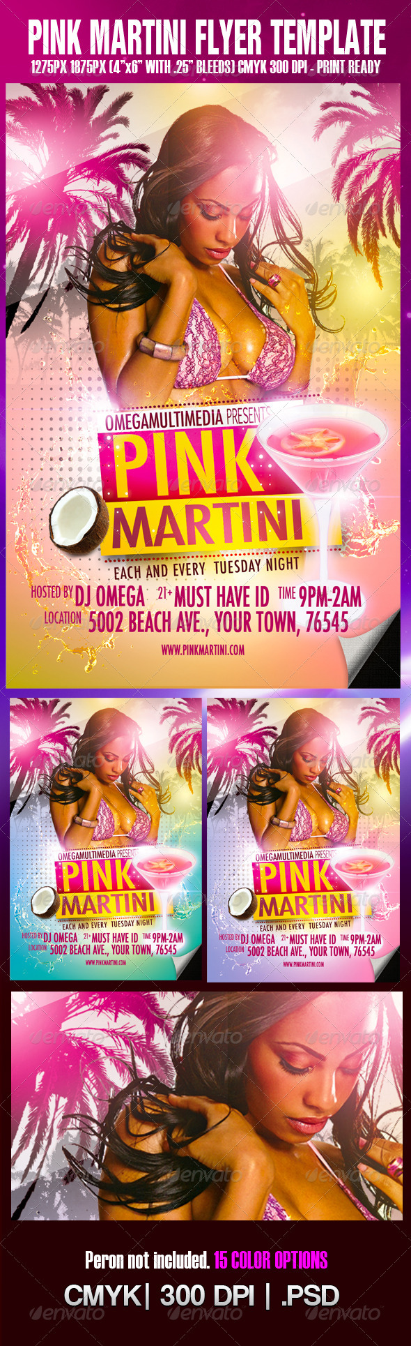 The Pink Martini Template - Clubs & Parties Events