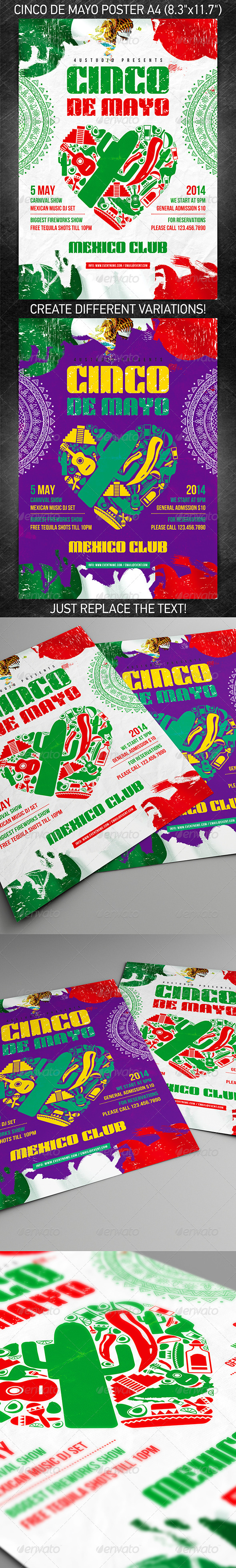 Cinco de Mayo party poster - Holidays Events