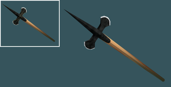 Low Poly Halberd - 3DOcean Item for Sale