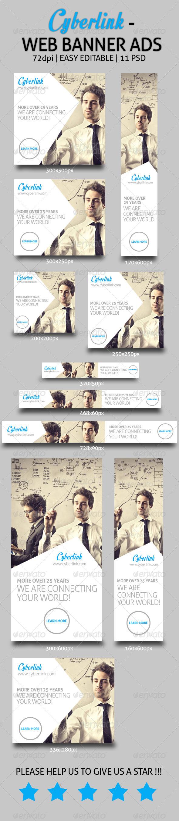 Cyberlink - Web Banner Ads