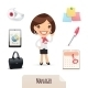 Female Manager Icons Set - GraphicRiver Item for Sale