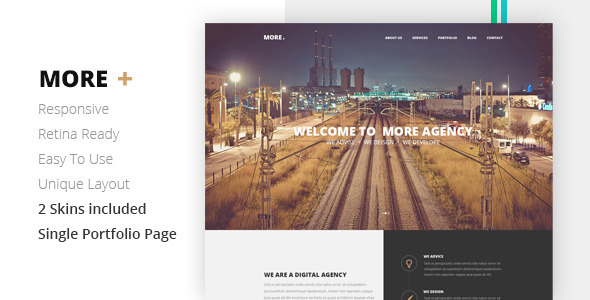 MORE Creative One Page Template - Creative Site Templates