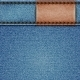 Denim Texture with Leather Label - GraphicRiver Item for Sale