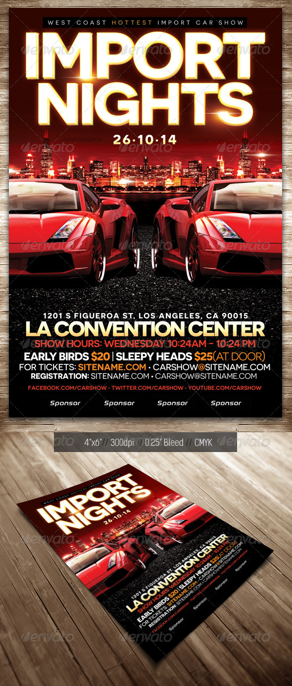 Car Show Flyer Import By Smithunltd GraphicRiver - Car show flyer background