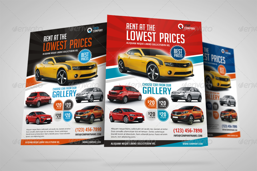 Automotive Car Rental Flyer Ad by JbnComilla – Car Ad Template