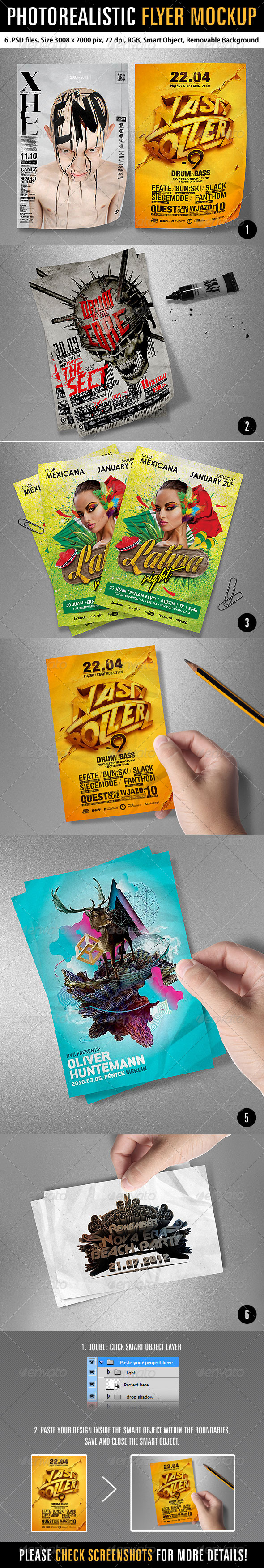 Photorealistic Flyer Mockup - Product Mock-Ups Graphics