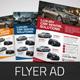 Automotive Car Sale Rental Flyer Ad v3 - GraphicRiver Item for Sale