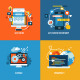 Flat Design Concept Icons for Web Development - GraphicRiver Item for Sale